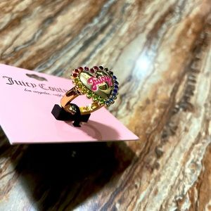 Juicy Couture Rainbow Heart Stretchable Ring
